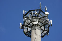 Cellular phone network mast Royalty Free Stock Photo