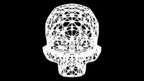 Artificial skull turn around. 3D rendering.