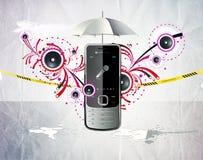 Cellular telephone. Illustration of a cellular telephone Stock Photos