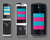 Cellular telephone. Vector illustration of a cellular telephone Royalty Free Stock Photos
