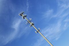 Cellular telephone transmission tower, Route 95 Virginia royalty free stock photo