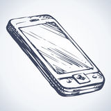 Cellular telephone. Vector drawing vector illustration