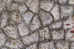 Cellular texture cement or concrete stone surfaces Stock Photos