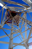 Cellular tower. Cellular communications tower on a clear day the blue sky Royalty Free Stock Image
