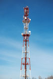 Cellular tower with antenna Royalty Free Stock Image