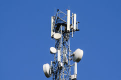 Cellular Tower. On blue sky background Stock Images