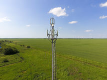 Cellular tower. Equipment for relaying cellular and mobile signal Royalty Free Stock Photography