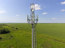 Cellular tower. Equipment for relaying cellular and mobile signal.  Royalty Free Stock Photography