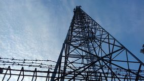 Cellular Tower. Mount to the sky Stock Image