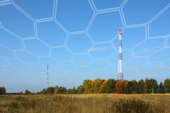 Cellular towers Royalty Free Stock Image