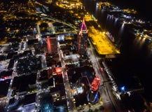 Cellulare, Alabama alla notte fotografia stock