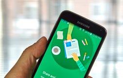 Cellulare app dei documenti di Google Fotografia Stock Libera da Diritti