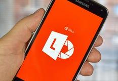 Cellulare app della lente di Microsoft Office Immagine Stock