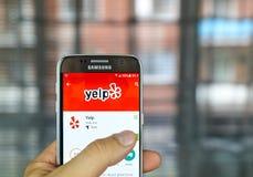 Cellulare app di guaito Immagine Stock