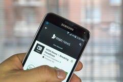 Cellulare app di MSN Fotografia Stock Libera da Diritti
