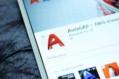 Cellulare app di programma di AutoCAD Fotografia Stock Libera da Diritti