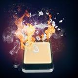 Cellulare Burning royalty illustrazione gratis