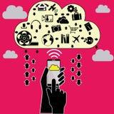 Cellulare della nuvola Immagini Stock