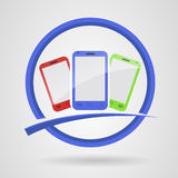 Cellulare di logo Immagini Stock