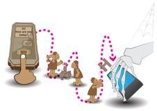 Cellulare di pietra neandertaliano Fotografia Stock