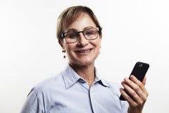 Cellulare di signora Fotografia Stock