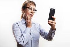 Cellulare di signora Fotografie Stock