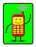 Cellulare divertente Immagini Stock Libere da Diritti