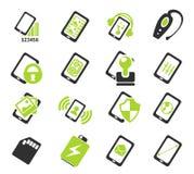Cellulare o specifiche e funzioni dello smartphone Fotografia Stock Libera da Diritti