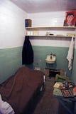 Cellule d'Alcatraz avec le trou d'évasion Photos libres de droits