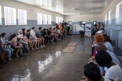 Cellule de prison d'île de Robben photographie stock