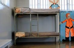Cellule de prison de prison d'île de Robben photographie stock libre de droits