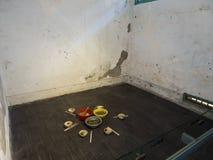 Cellule de prison en Jing-Mei Human Rights Memorial et parc culturel Image libre de droits