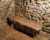 Cellule de prison médiévale photo stock