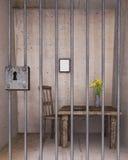 Cellule de prison verrouillée Image stock