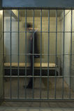 Cellule de Walking In Prison d'homme d'affaires Photos stock