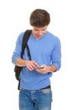 Cellule ou téléphone portable d'étudiant Photos stock