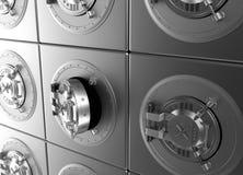 Cellule ouverte de dépôts en banque Images libres de droits