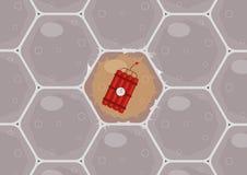 Cellule tumorali L'importanza del controllo medico annuale e della prova del DNA per il rischio di fondo per i tumori fotografia stock libera da diritti