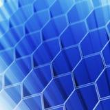 Cellules d'hexagone de technologie Images libres de droits