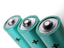 Cellules de batteries Photographie stock libre de droits