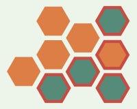 Cellules de communication mobile Fond sous forme de nid d'abeilles Photo libre de droits