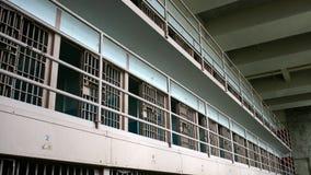 Cellules de prison d'Alcatraz image stock