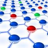 Cellules de sphères de réseau Photos stock