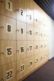 Cellules de stockage en bois Photographie stock libre de droits