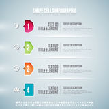 Cellules Infographic de forme Image stock