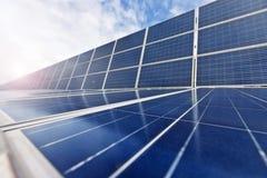 Cellules photovoltaïques ou panneaux solaires Photo libre de droits