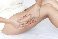 Cellulite Check Royalty Free Stock Photography