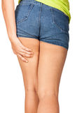 Cellulite of a teenage girl. Royalty Free Stock Photo