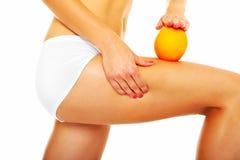 Cellulitebehandlung Stockbild