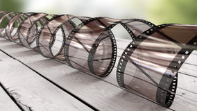Celluloid spiral Stock Image